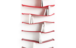 Rubber Bookshelves by Luke Hart