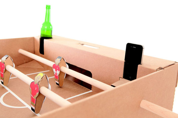 cardboard table football game