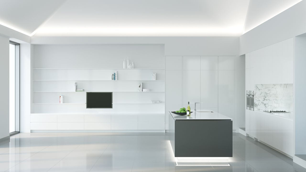 Contemporary Minimalist Kitchen Design Where Function