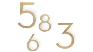Photo of Modern House Numbers
